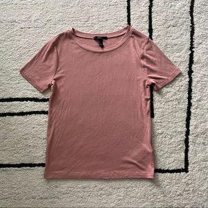 F21 Mauve Ribbed Basic T-shirt
